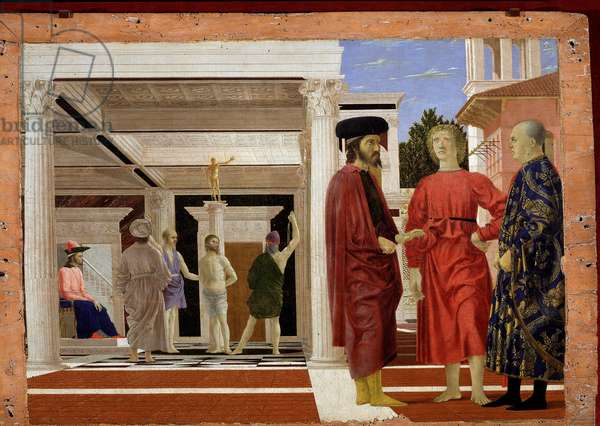 The flagellation of Christ, 1444-50 (oil and tempera on wood)