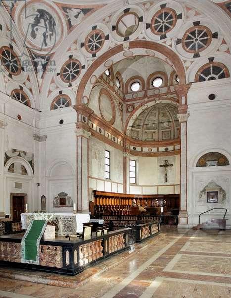 View of the Presbytery, Tribune of Bramante (1444-1514) 1492-1497 (view of the presbytery, Tribune of Bramante, 1492-1497) Milan, Basilica di Santa Maria delle Grazie italy