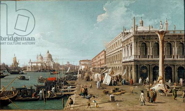View of the Molo, the Biblioteca Marciana and the Column of St. Theodore, Venice, 1735 (oil on canvas)