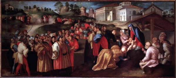 Adoration of the Magi - Painting, 1520
