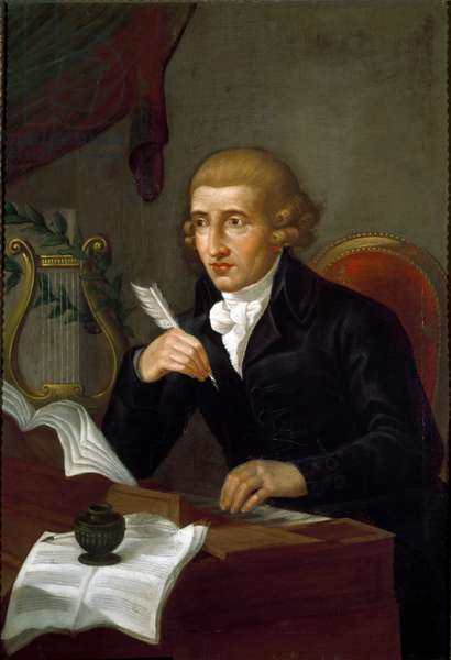 Portrait of Joseph Haydn (1732-1809), Austrian composer Anonymous painting of the 18th century. Bologna, Civico Museo Bibliografico Musicale