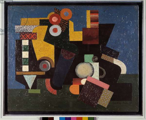 Composition (oil on canvas, 1917)