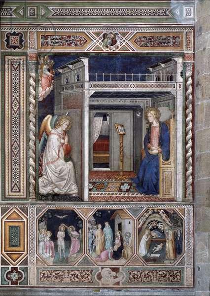 The Annunciation - Fresco, 14th century
