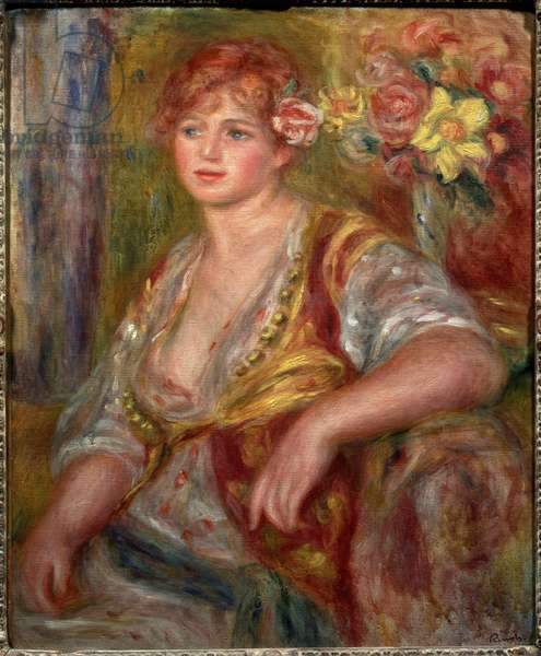 Blonde with the rose (Portrait of Andree Madeleine Heuschling), circa 1915 (oil on canvas)