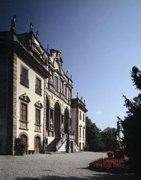 Facade of Villa Mansi restructured by Muzio Oddi (1569-1639), 17th century Lucca (Lucca, Capannori), Villa Mansi Italy
