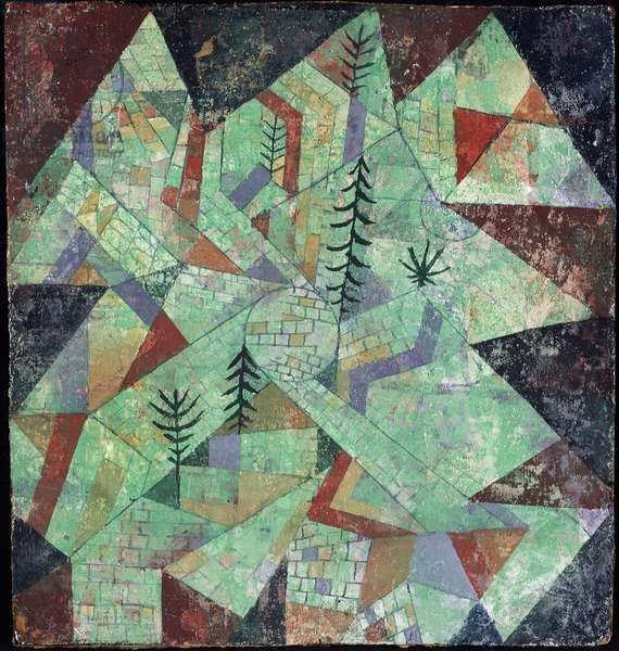 Wald bau (Wooden construction) Mixed media by Paul Klee (1879-1940) 1919 Sun. 27,5x26 cm Milan, Museo del Novecento