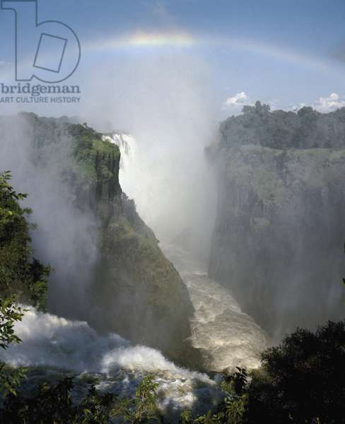 View of Victoria waterfalls in Zimbabwe Africa (Victoria falls in Zimbabwe, Africa)