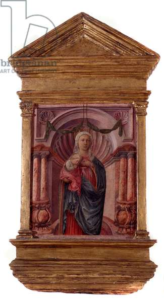 Virgin with child Painting by Filippo Lippi (ca. 1406-1469) 15th century Private collection