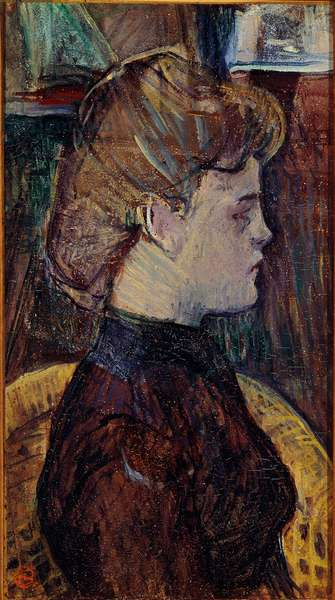 Model in the workshop: Helene Vary. Painting by Henri de Toulouse-Lautrec (Toulouse Lautrec, 1864-1901), 19th century. Albi, Musee Toulouse-Lautrec