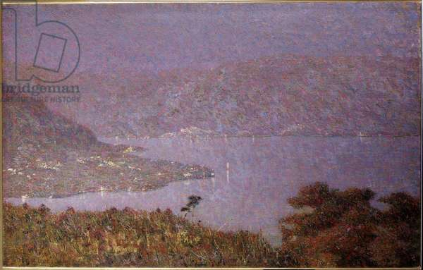 Pearl of Love (Nebbiolina sul lago) (Mist on the lake, Mists on the lake) Painting by Vittore Grubicy de Dragon (1851-1920) 1896 Dim 33,5x51 cm Milan, Galleria d'Arte Moderna