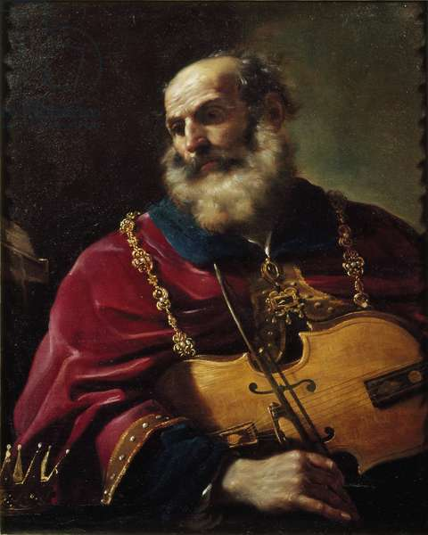 King David (oil on canvas, 17th century)