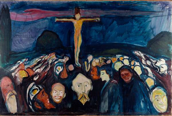 Golgotha Painting by Edvard Munch (1863-1944) 1900 (oil on canvas)