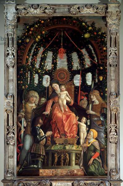 Virgin of Victory (Pala della Vittoria), 1496 (Tempera on wood)