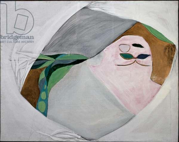 Long flight kite (Mixed media on canvas, 1965)