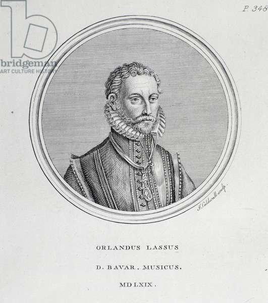 Portrait of Roland de Lassus (Orlando di Lasso) (engraving, 1569)