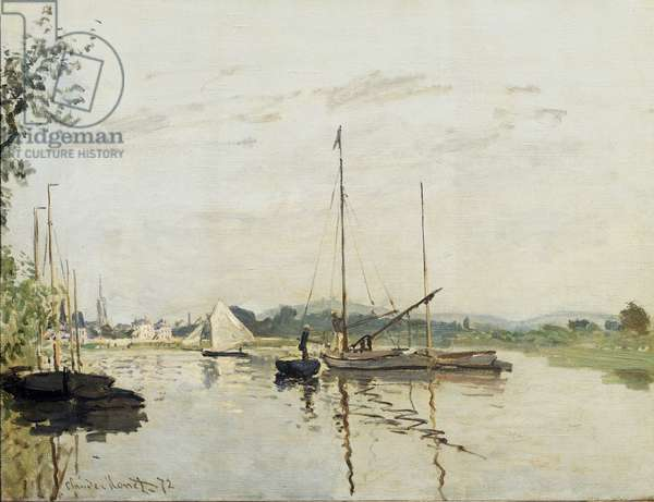 Argenteuil Painting by Claude Monet (1840-1926) 1872 Sun. 0,5x0,65 m Paris, musee d'Orsay