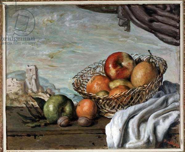 Still life with apples  (oil on canvas, 1940)