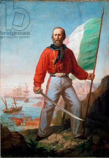 Portrait of Giuseppe Garibaldi in Marsala, Expedition of the Thousand