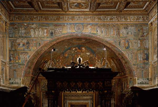 View of the apse, with Christ in Majesty and scenes from the Life of Christ (mosaic)