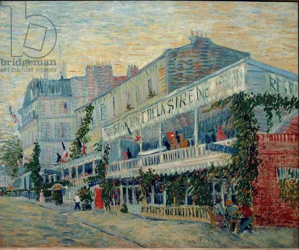 Le restaurant de la Sirene a Asnieres - Painting by Vincent Van Gogh (1853-1890) - Oil on canvas, 1887, post-impressionism - Musee d'Orsay, Paris (France)