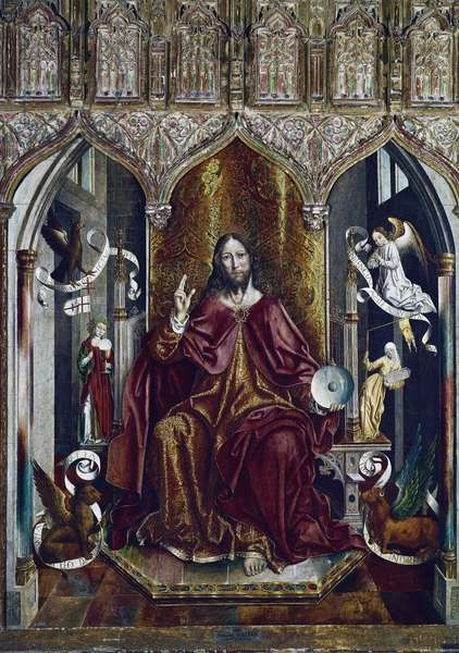 The Blessing Christ (mixed method on panel, c.1494-1496)