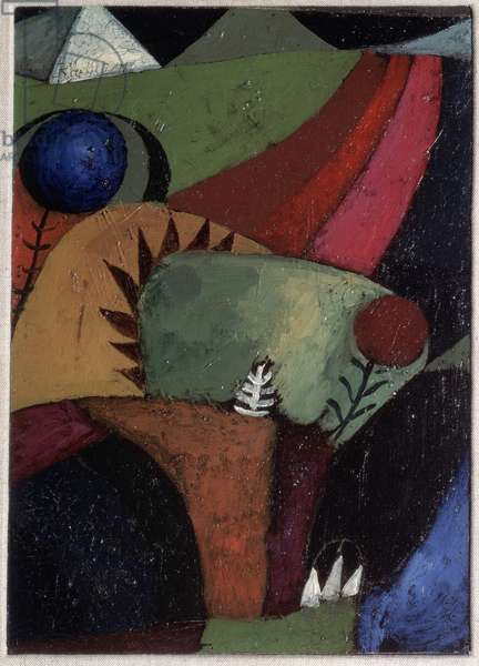 Three campanules (Three bluebells) Painting by Paul Klee (1879-1940), 1928 Private collection
