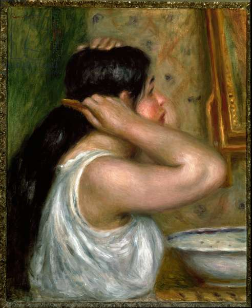 The toilet: woman painting herself (oil on canvas, 1910)