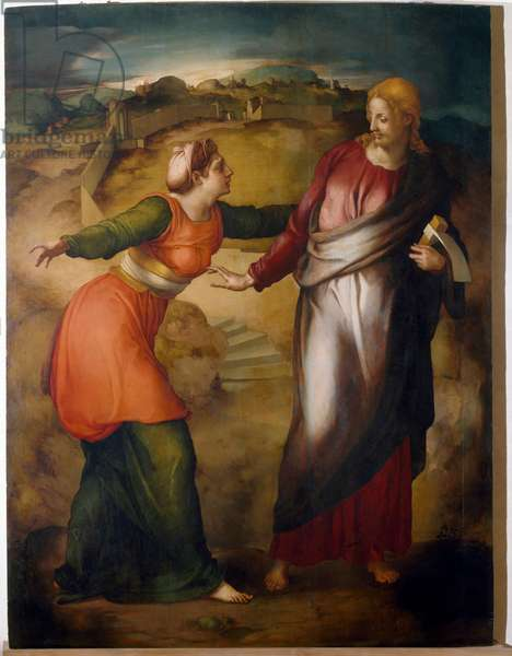 Noli me tangere Painting by Jacopo Carrucci dit il Pontormo (Pontormo) (1494-1556) 1530 approx. Dim 124x95 cm Private collection