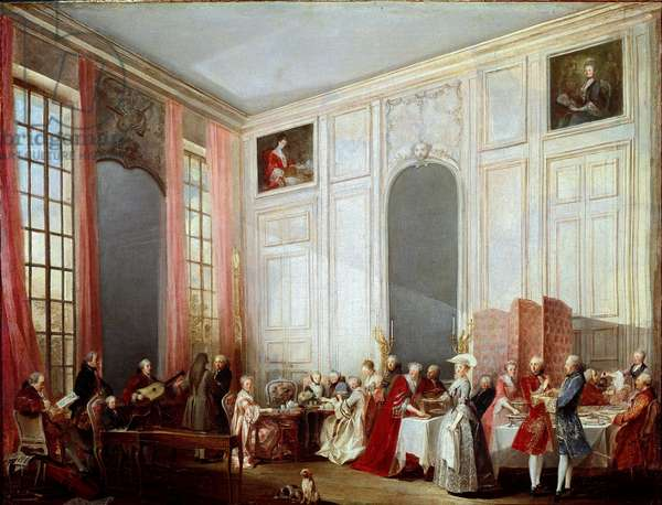 Afternoon tea at the Temple (oil on canvas, 1766)