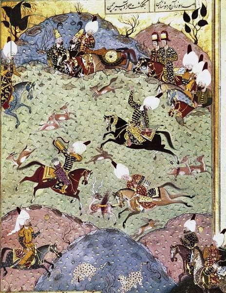 The Ottoman Sultan Suleiman the Magnificent hunting. 1558 (miniature)