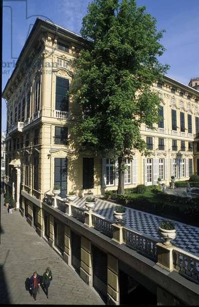 View of the Palace (Palazzo) Bianco (or Palace of Luca Grimaldi) built in 1530 and 1540 in Genes (Genova), Italy