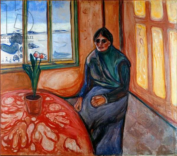 Melancolie (Laura) Painting by Edvard Munch (1863-1944) 1899 Sun. 110x126 cm Oslo, Kommunes Kunstsamlinger Munch-Museet (Musee Munch)
