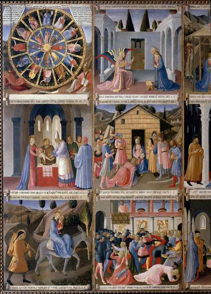 History of the Life of Christ - Painting from the Cabinet of the Sacred Vases or the Cabinet of the Silver Ex-Voto of the Church Santissima Annunziata (Armadio degli Argenti: Life of Christ) Tempera on wood by Guido di Pietro (or Fra Giovanni da Fiesole) dit Fra Angelico ou il Beato (1400-1455) and his pupils, 1450-1450-1453 - Museums - Convent of San Marco, Florence ( Museo di San Marco, Firenze) -