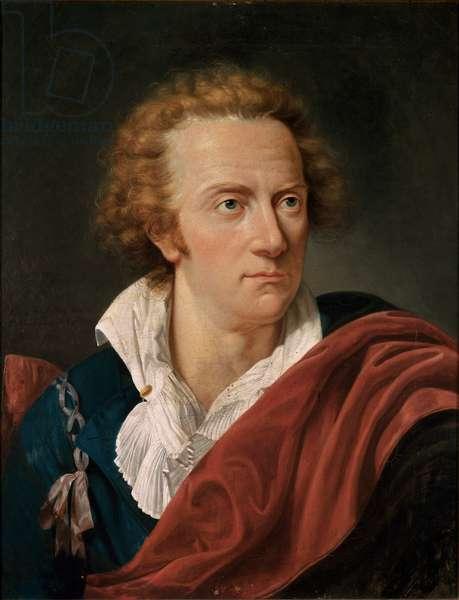 """""""""""Portrait de l'ecrivain italien Vittorio Alfieri (1749-1803)"""""""" Detail. Peinture de Francois Xavier Fabre (1766-1837) Fin 18eme siecle Turin, Museo Nazionale del Risorgimento ©Luisa ricciarini/leemage"""