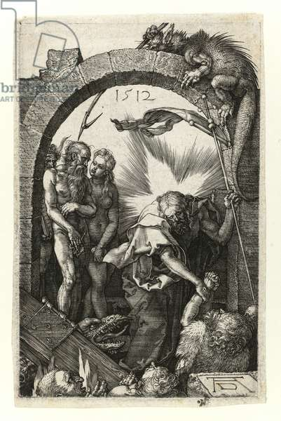 Christ at Limbo (with Adam and Eve), 1512 (Burin engraving on copper)