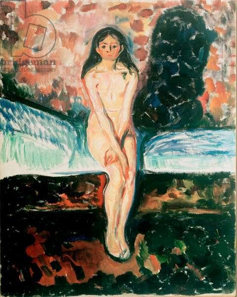 Puberte Etude. Painting by Edvard Munch (1863-1944) Before 1895 Oslo, Kommunes Kunstsamlinger Munch-Museet (Musee Munch)