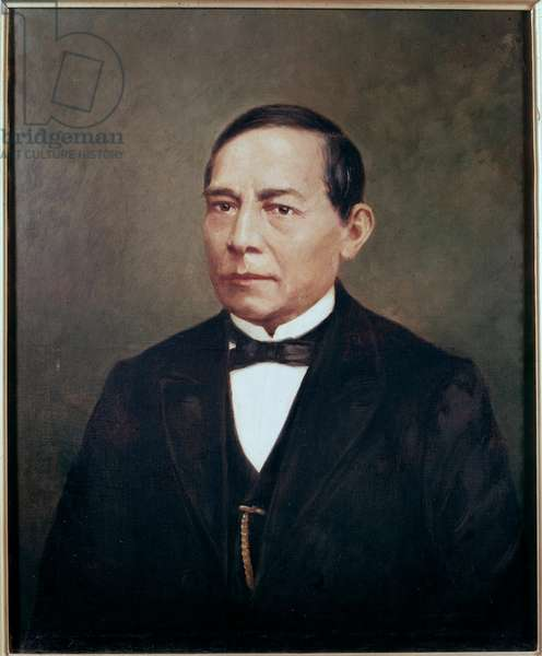 Portrait of BENITO PABLO JUAREZ (1806-1872) Mexican statesman and revolutionary - Portrait of Mexican politician Benito Pablo Juarez (1806-1872) Anonymous painting, 19th century Mexico City, National Historical Museum, Chateau de Chapultepec