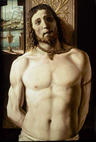 Christ Tied to the Column (oil on panel, c.1480)