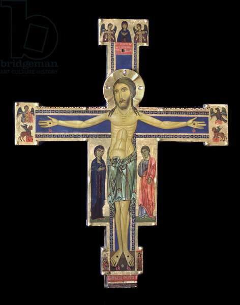 Crucifix Wood painting by Berlinghiero Berlinghieri (13th century) (Berlinghiero of Lucca, (fl 1228-before 1236) Lucca, Pinacoteca Nazionale