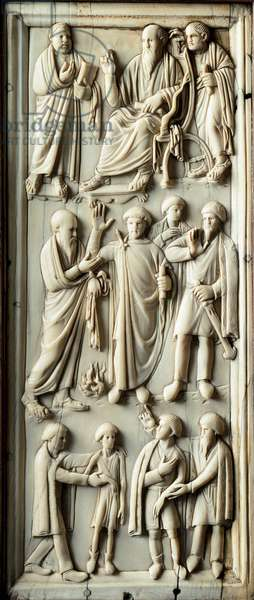 Episode of the life of St. Paul of Tarsus. Ivory diptych. 5th century. Florence, Museo Nazionale del Bargello