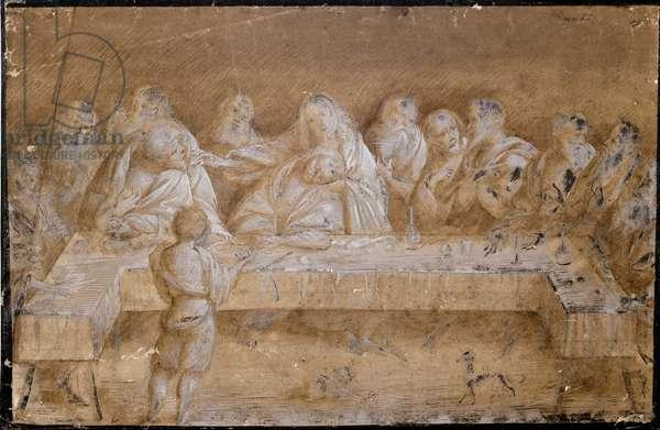 Study for the last supper Drawing by Gaudenzio Ferrari (ca. 1475-1546) Milan, Pinacoteca di Brera