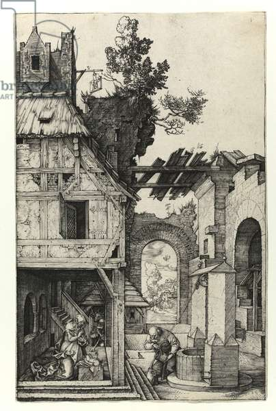 The Nativity, 1504 (Burin engraving)