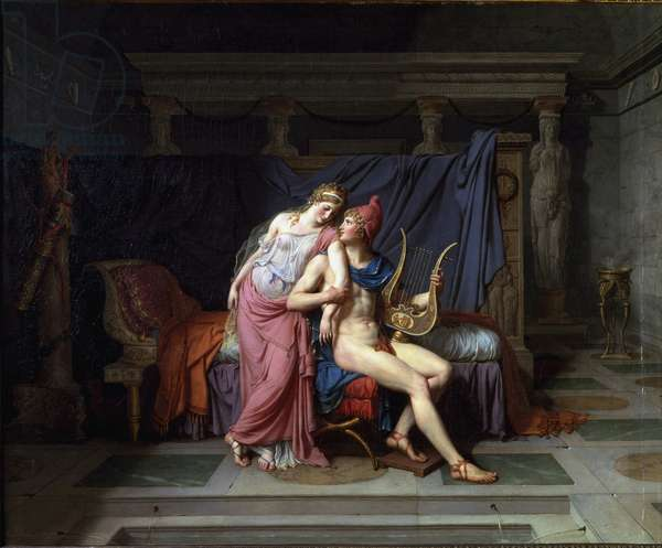 The loves of Paris and Helen - Oil on canvas, 1788