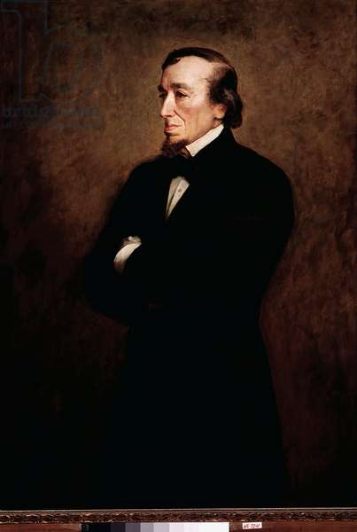 Portrait of Benjamin Disraeli, British politician and founder of the Conservative Party, 19th century (painting)