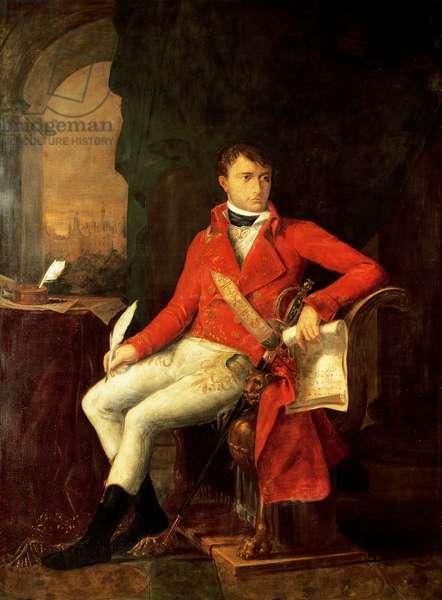 Portrait of Napoleon I Bonaparte in uniform of first consul