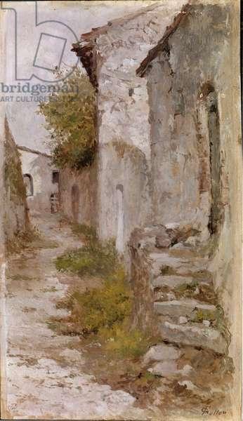 Village road (oil on canvas, 1903-1904)