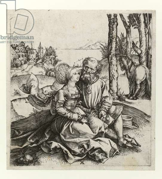 The ill-assorted couple, c.1495 (Burin engraving)