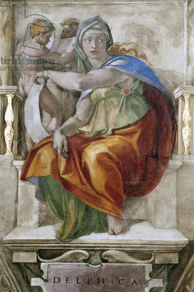 The Delphic Sibyl, detail from the Sistine Chapel, 1509 (fresco)