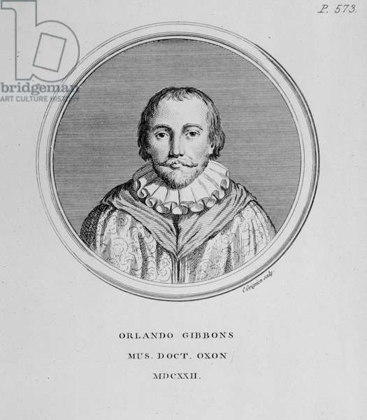Portrait of Orlando Gibbons (1583-1625) british composer