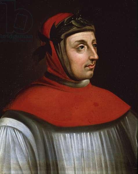 Portrait of Francesco Petrarca, called Petrarch (Painting, 17th century)